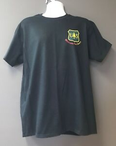 Dept of Agriculture USFS FOREST SERVICE WILDLAND FIRE SAFETY Black T-Shirt