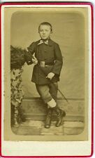 Un élève  en uniforme - CDV photo circa 1880