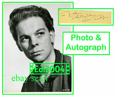 """RUSS TAMBLYN Vintage Original Photo """"MANY RIVERS TO CROSS"""" Autograph Card 1955"""