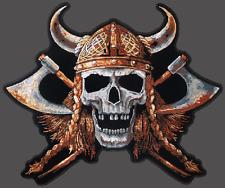 Viking Skull  EMBROIDERED 12 INCH  BIKER JACKET VEST BACK  PATCH