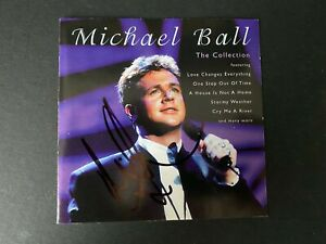 MICHAEL BALL - CHART TOPPING SINGER - SIGNED ' THE COLLECTION ' CD SLEEVE