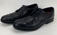 Rockport Walkability Mens Size 16 W WaterProof Oxford Black Leather Shoes