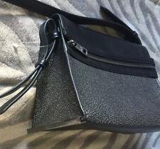 Pied A Terre black N Silver  pattern medium shoulder bag handbag