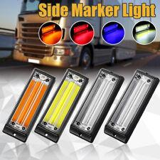 12/24V Strobe Flashing COB LED Side Marker Reverse Brake Warning Light Truck