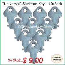 """""""Universal"""" Skeleton Key for Paper Towel & Toilet Tissue Dispensers - (10/pk.)"""