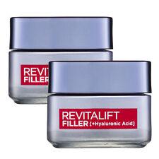 L'Oreal Paris Revitalift Filler Hyaluronic Acid Day Cream Moisturiser 50ml x 2
