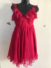 ARDEN B. Strapless Red Rose Party Chiffon Dress Large NWT Freeshipping