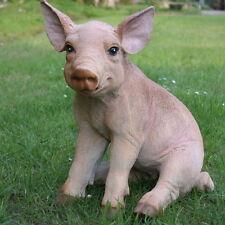 Dekofigur Schwein Ferkel Eber Schweinchen Gartenfigur Bauernhof Glücksschwein