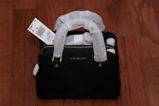NWT Michael Kors $298 Savannah Small Leather Satchel Handbag Purse Black