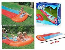 Scivolo gonfiabile per 2 bambini gioco ad acqua rampa lancio esterno giardino