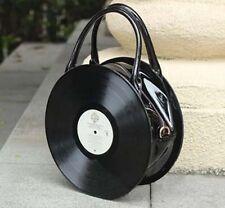 Anime Lolita Fashion Retro Women Round Handbag Harajuku Record bag gift black