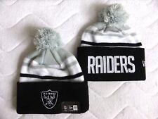 OAKLAND RAIDERS DEEP CUFF New Era American Football Bobble Beanie Toque Hat NFL
