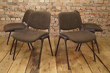 Set 4x Vintage Stapelstuhl 70er Stuhl Lounge Mid Century Space-Age COMFORTO