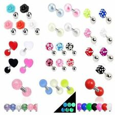 Ear Acrylic Unbranded 16g (1.2 mm) Body Piercing Jewellery