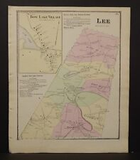 New Hampshire Strafford County Map Lee Township 1871  Y15#08