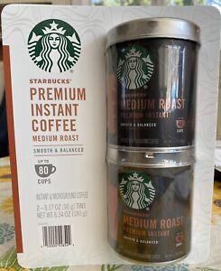 Starbucks Premium Instant Medium Roast Coffee Can Gift Set Of 2 80 Cups Mothets