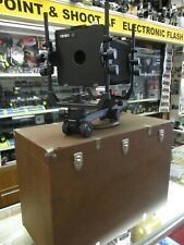 Cambo 4 X 5 camera with case, lens board & focus cloth NO LENS