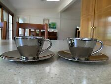 Avanti Stainless Steel Cup And Saucer 2sets