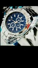 Luxury Watch Fashion Men Stainless Steel Quartz Analog Hand Sport WristWatch