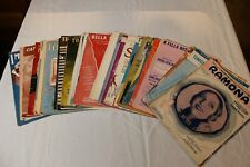 Lot of 45 Pieces of Old Vintage Sheet Music 1903 -1957 Movies, Stage, Classics