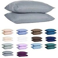 Pillowcases 800 Thread Count 100% Cotton Bed Pillow cases 2-PCs Multi Color/Size