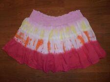 Justice pink & orange tye dye skirt skort girls 16 Back 2 School