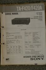 Service Manual für Sony TA-F420 / F420A