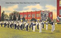 Boys Town Nebraska 1940s Postcard Father Flanagan's Boys Home Band
