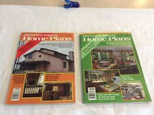 Distinguished Home Plans Magazines 1987 #166,#167
