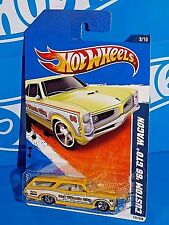 Hot Wheels 2010 HW City Works Series #111 Custom '66 GTO Wagon Yellow w/ 5SPs