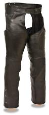 Milwaukee Leather Unisex 3 Pocket Chaps Black 2X #NLGIW-M858