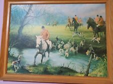 """VINTAGE PICTURE  24""""X18"""" APPROX -""""THE FORD"""" BY JOHN BERRY PRINT VGC"""