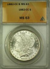 1882-CC Morgan Silver Dollar $1 ANACS MS 63 (BCX)