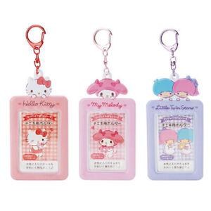Japan Hello Kitty My Melody Little Twin Stars Card Holder Pass Case Keychain