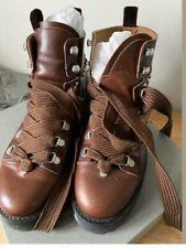 All saints Sherrin studded Brown Hiking Leather Boots Size6 Eu39
