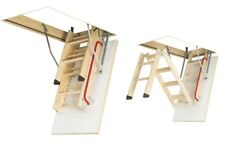 Bodentreppe H280 70x120 Holztreppe 120x70 Speichertreppe mit Handlauf LWK FAKRO