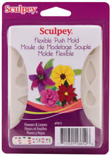 Sculpey Flexible Push Mold Flowers & Leaves Set Polymer Clay Soap Wax