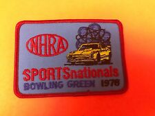 """EMBROIDERED 1978 NHRA SPORTS NATIONALS BOWLING GREEN JACKET PATCH 4.25"""" X 3"""""""