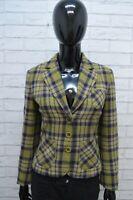 Giacca Donna Max & Co Lana Taglia S Jacket Verde Wool Cappotto a Quadri Green