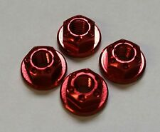1/10 RC car on road drift realistic wheel nuts red alloy