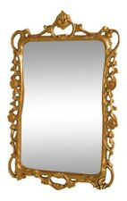 38947: Friedman Brothers #6694 Scrolls & Roses Gold Frame Mirror ~ New