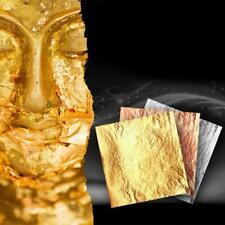 100 Sheets Anti-moisture Copper Leaf Foil Paper For Gilding Art Craft DIY Decor