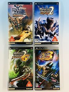 Lot of 4 PSP Monster Hunter Portable 1 2nd 2G 3rd Japan Playstation