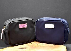Kate Spade Taylor Womens Nylon Mini Cosmetic Bag Navy