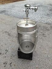 Beer Keg Urinal - Custom Made Stainless Novelty Urinal  MAN CAVE   BAR  BREWERY