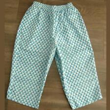 Bon Worth Capri XS Petite Pants White Sailboats Stretch Waist Pockets Leg Slit