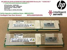 HP 16GB completamente buffered DIMM PC2-5300 2x8GB DDR2 KIT MEMORIA * 413015-B21 *