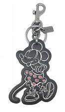 Coach X Disney Minnie Mouse Bag Charm Keychain Limited Edition Black F27700