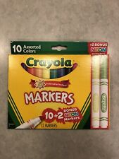 Crayola Markers 10 + 2 Bonus Pack With Two Neon Markers