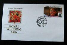 Union Island-1986-Royal Wedding FDC